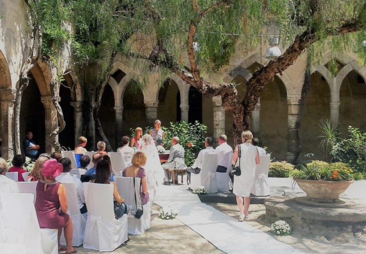 Where To Get Married In Italy: Just Get Married In San Francesco Cloister, Sorrento