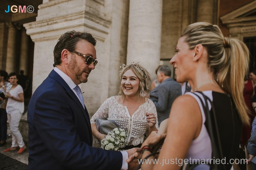 wedding celebrant rome campidoglio italy marriage