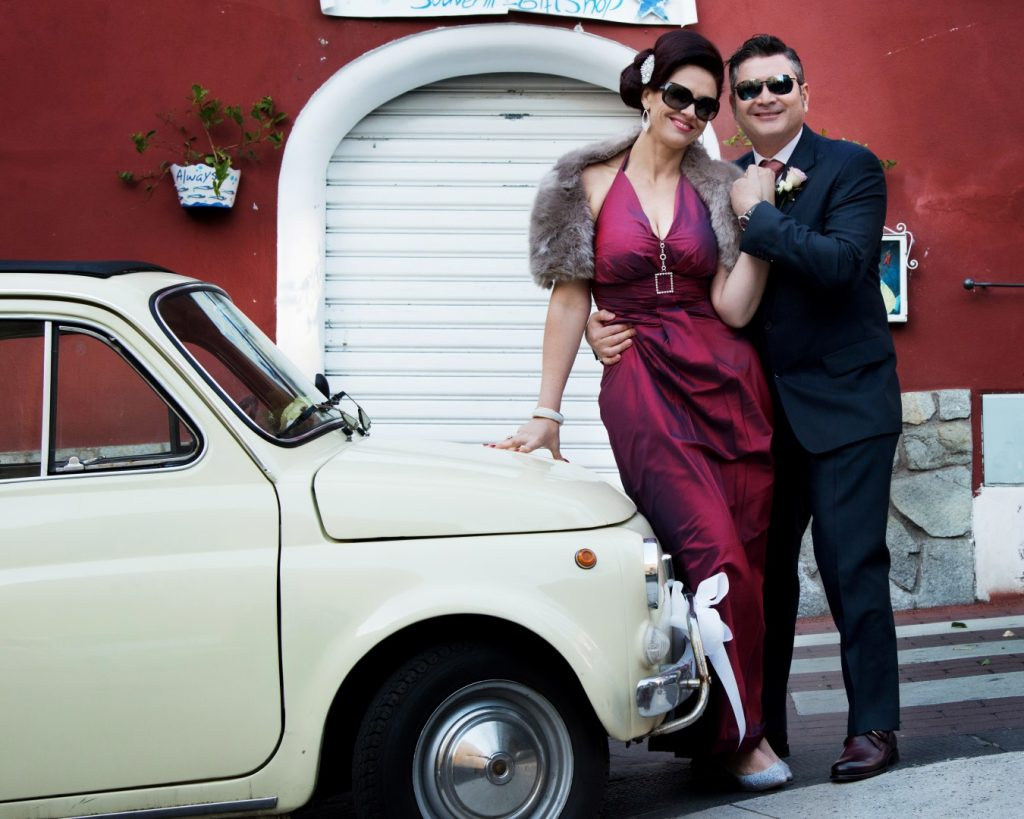 vintage car positano wedding italy ceremomy photo coverage amalfi coast