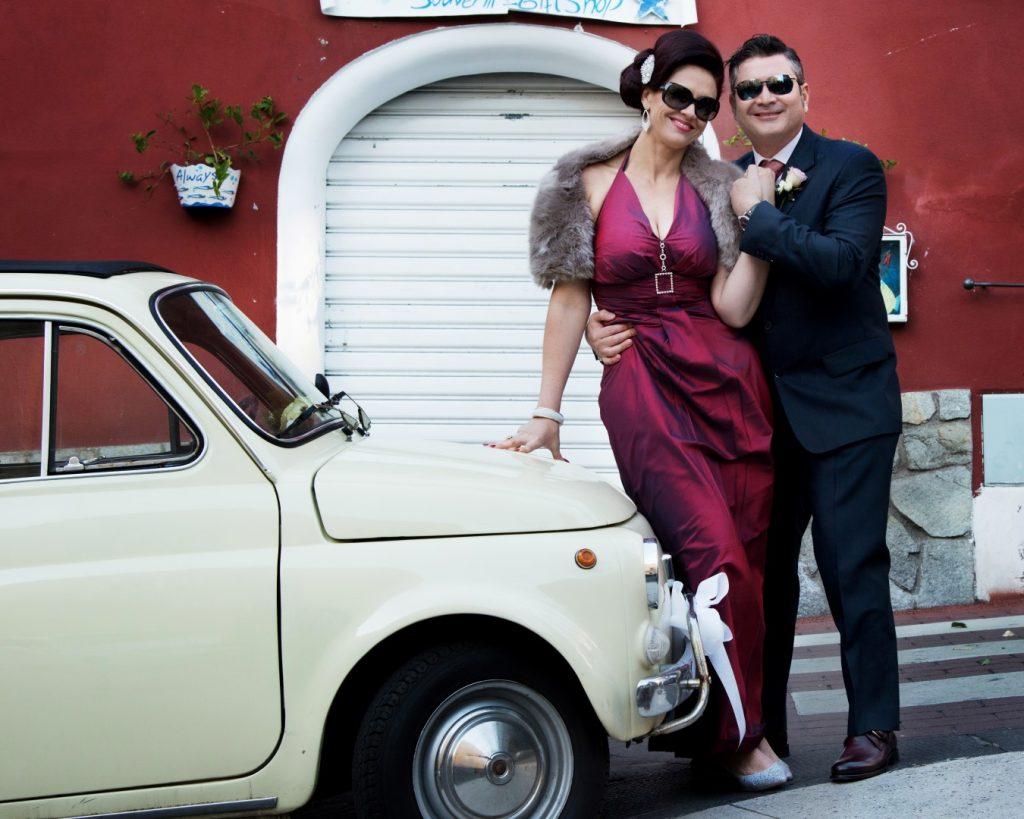 vintage car positano wedding italy ceremomy photo coverage amalfi coast