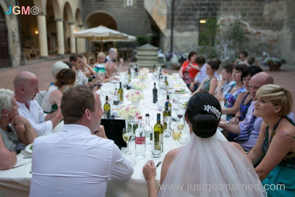 tuscany castle wedding reception italy oliveto tuscany