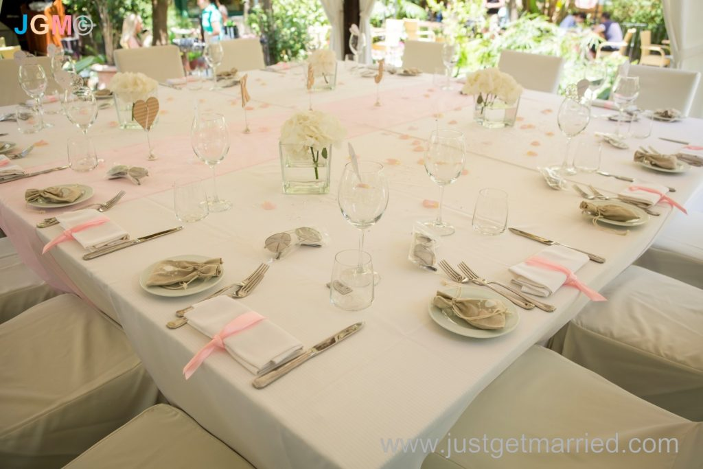 table wedding decorations italy