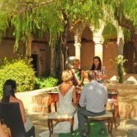 sorrento cloister ceremony in italy